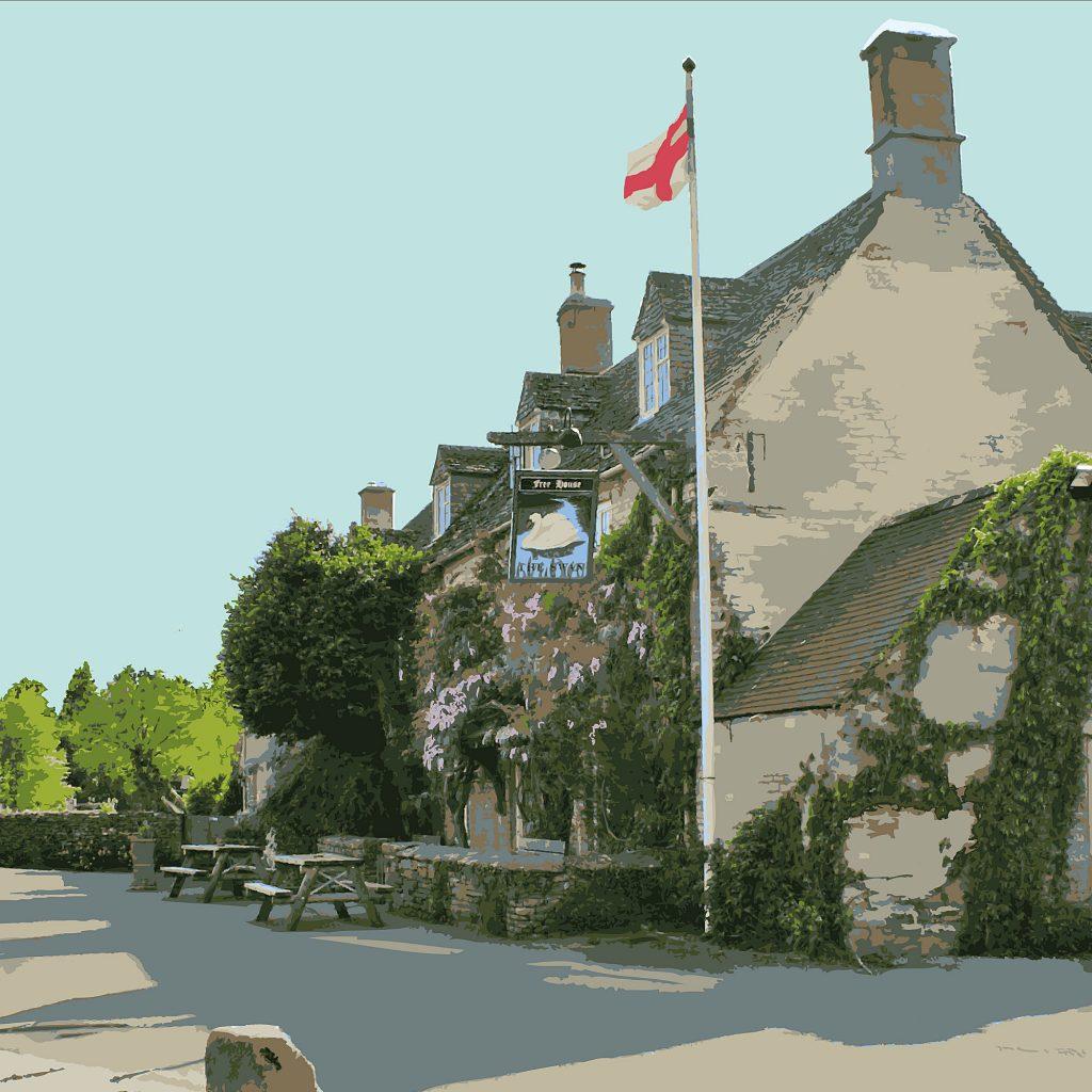 An Illustration Of The Swan Inn Swinbrook