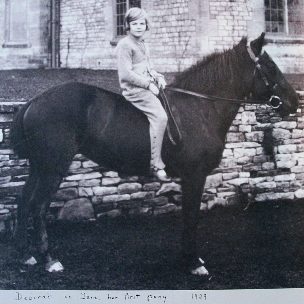 Deborah On Her First Pony 'Jane', Swinbrook, 1929