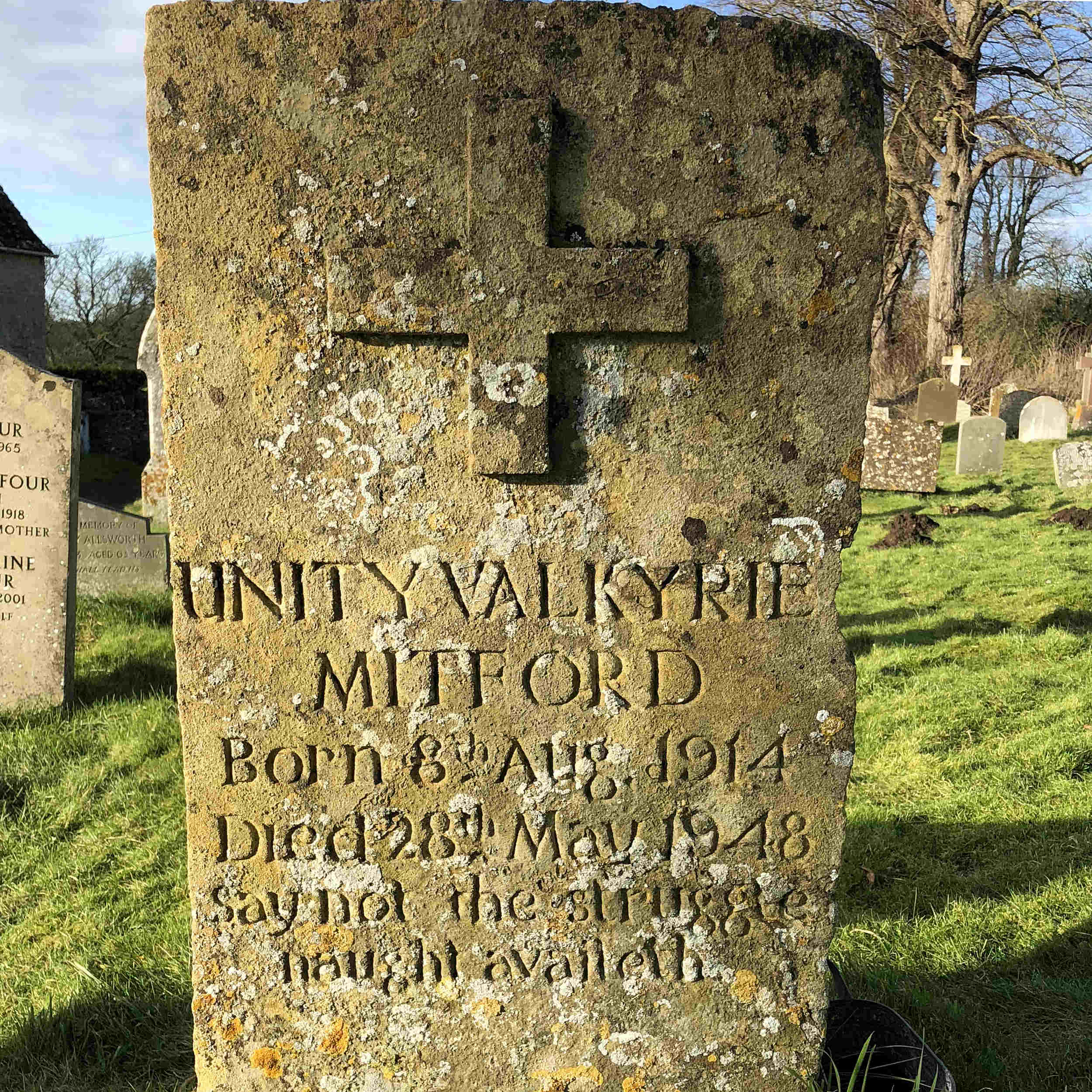 Unity Mitfords Grave - St Mary's Church, Swinbrook